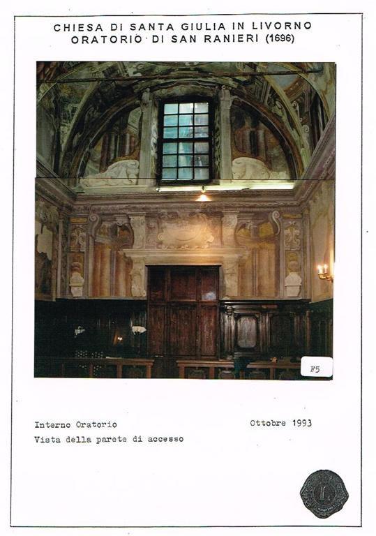 Restauro Oratorio di San Ranieri Livorno 03